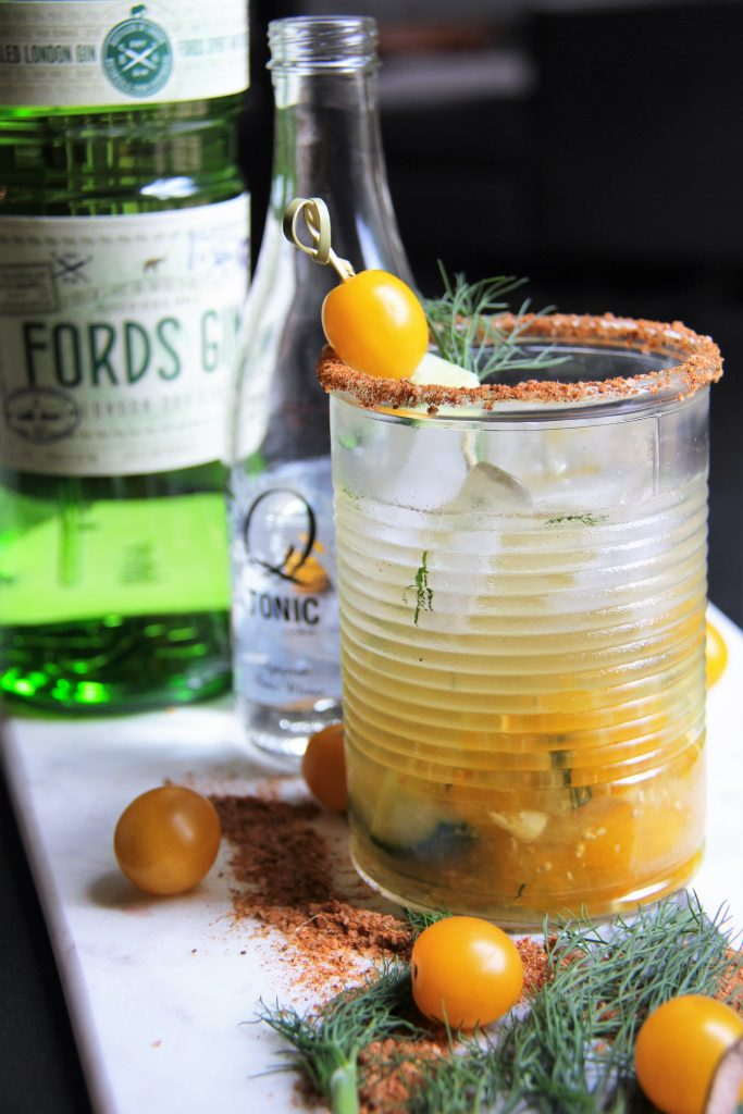 fords gin & q drinks in spicy tomato gin and tonic