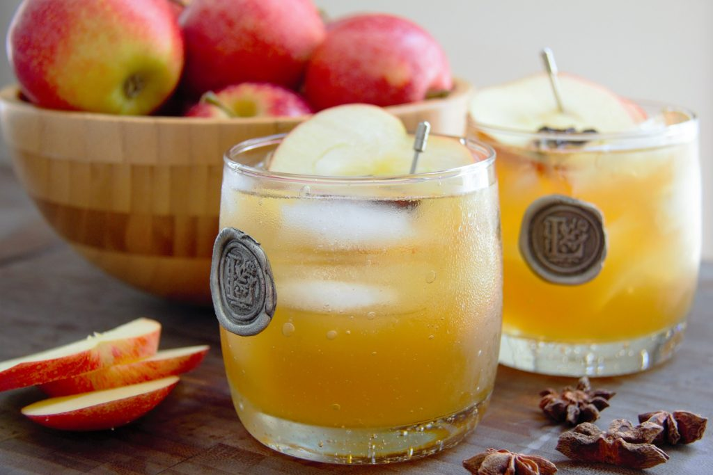 rum shandy with apples
