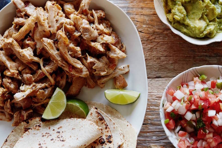 easy weeknight shredded chicken