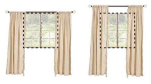how to hang curtains at right height