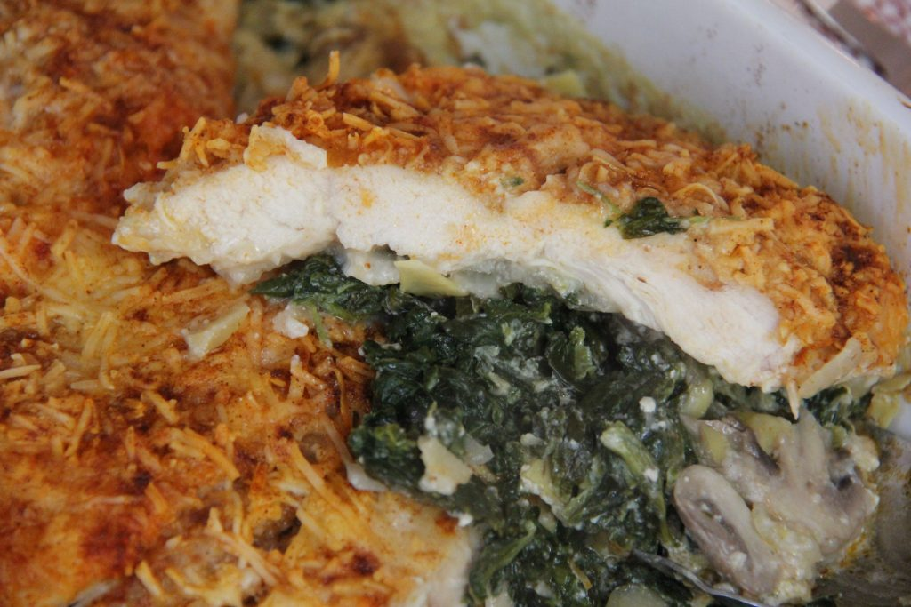 serving one dish chicken florentine dinner