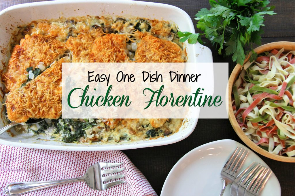 easy one dish chicken florentine