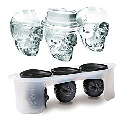 skull ice cube set