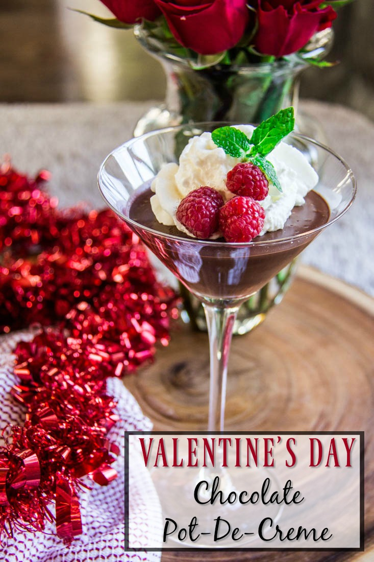 valentines day chocolate dessert with title