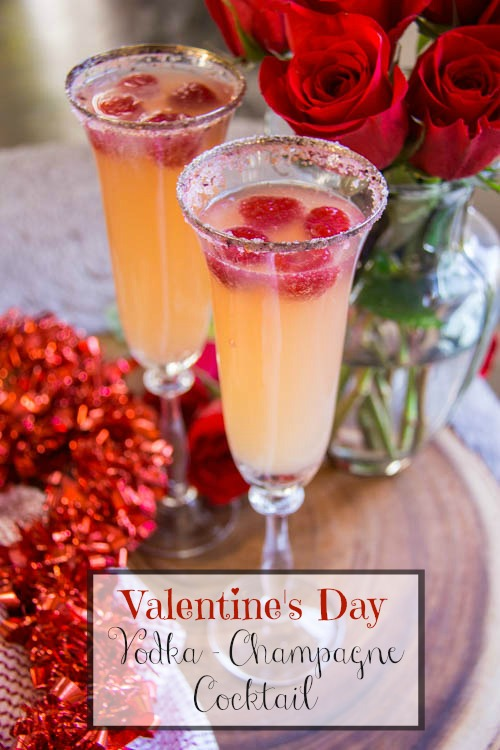 valentines day vodka cocktail with champagne | sumptuous living, Ideas