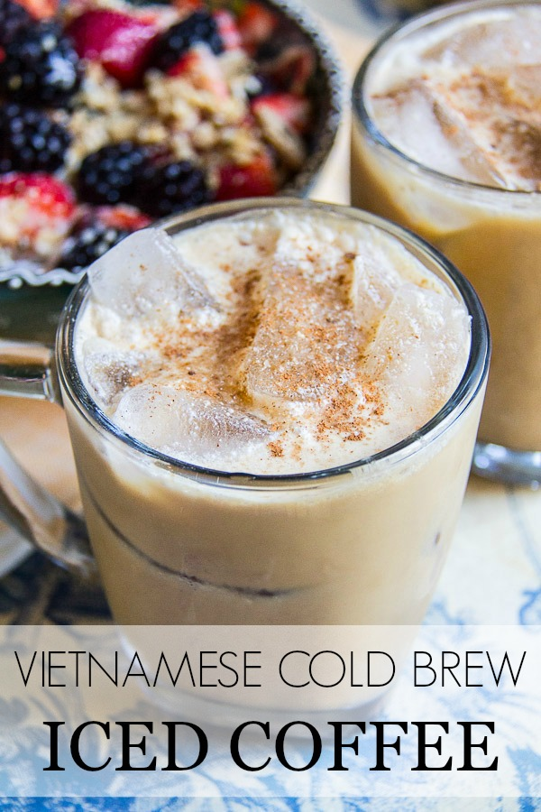 cold brew iced coffee with title