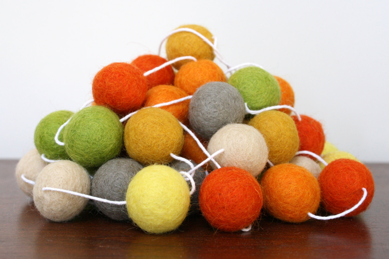 Autumn Felt Ball Garland Sumptuous Living Seasonal Goodies