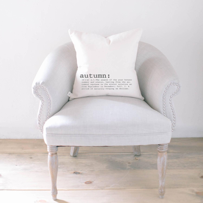 Autumn definition pillow Sumptuous Living Seasonal Goodies