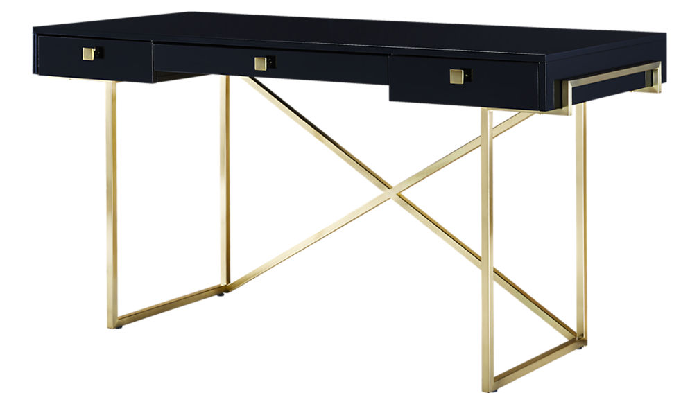 Desk High Gloss Blk Sumptuous living Home Decor