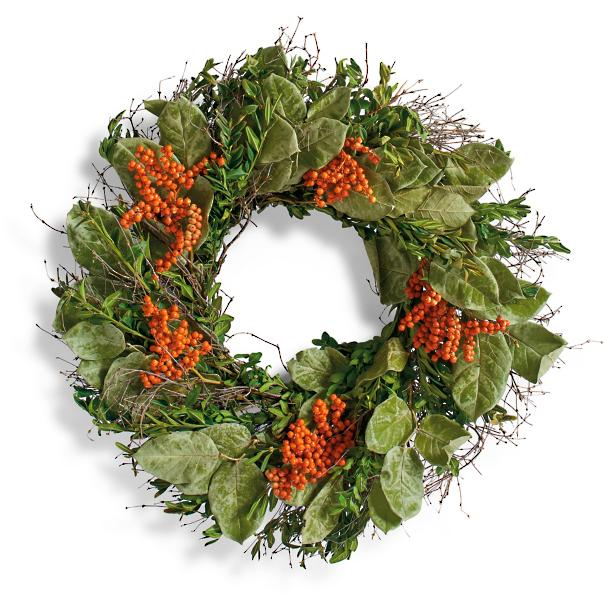Fall wreath Sumptuous Living Seasonal Goodies