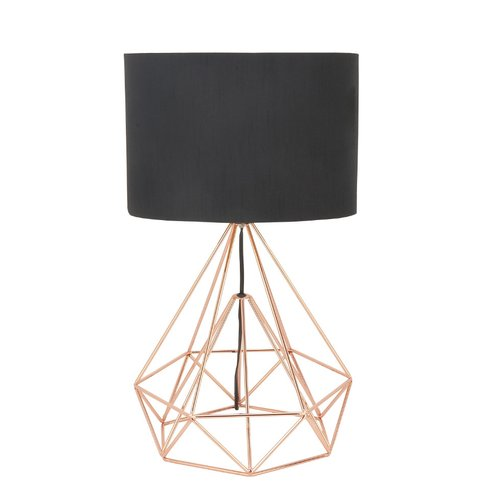 Geometric Rose Gold Table Lamp Sumptuous Living Home Decor