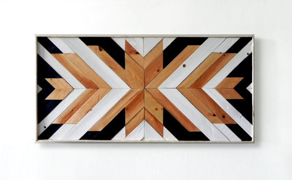 Geometric Wooden Wall Art Sumptuous Living Home Decor
