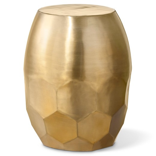 Gold Honeycomb Barrel Stool Sumptuous Living Home Decor