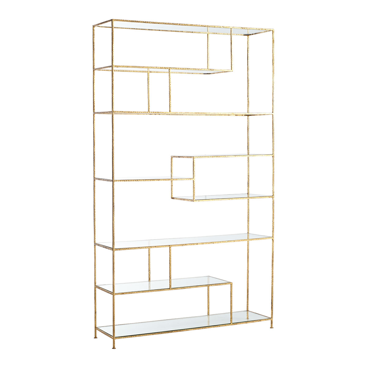 Gold Open Shelving unit Sumptuous Living Home Decor