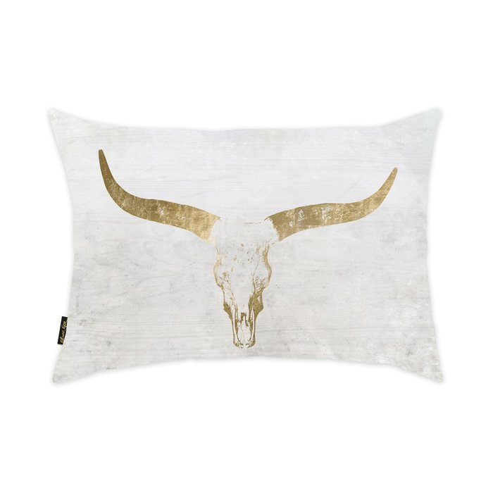 Gold Skull Pillow Sumptuous Living Home Deco