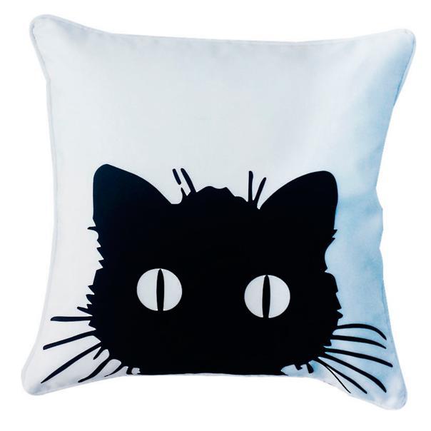 Grandinroad Black Cat Pillow Sumptuous Living Seasonal