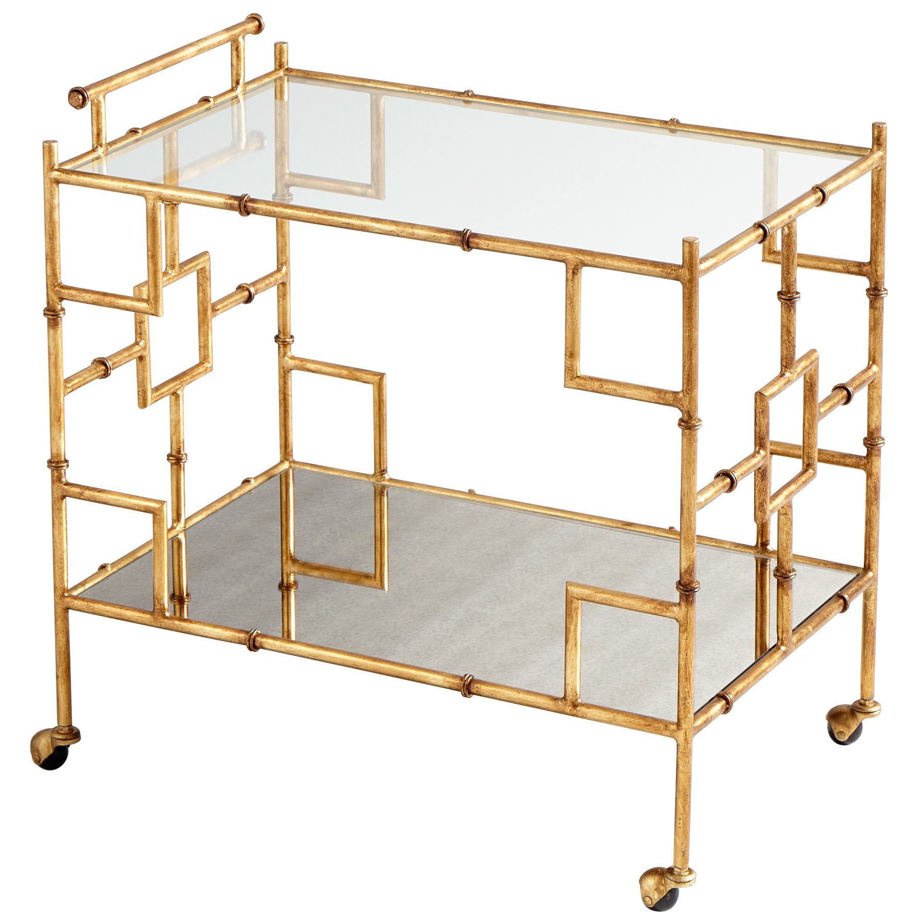 gold bamboo bar cart sumptuous living drink shop
