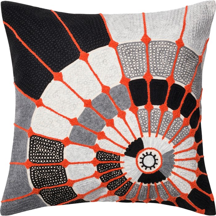 Orange B+W Pillow Sumptuous Living Home Decor