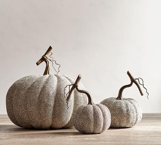 PB German Glitter Pumpkins Sumptuous Living Seasonal