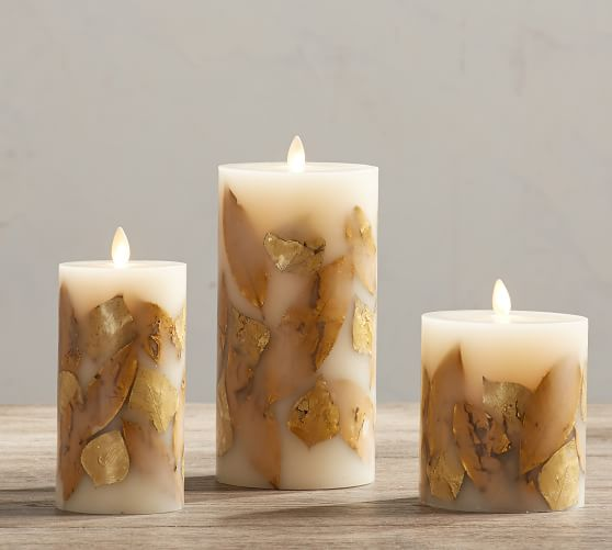 PB Gold Leaf Candle Sumptuous Living Seasonal