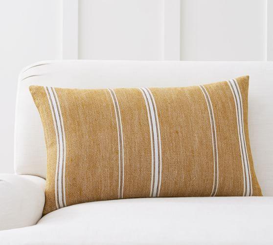 PB Linen Stripe pillow Sumptuous Living Seasonal
