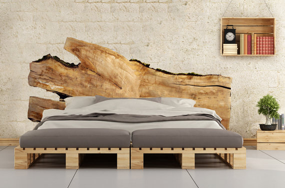 Wood Bed Board Etsy Sumptuous Living Home Decor