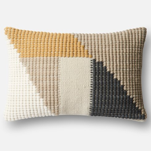 Yellow+Gray+Tan Pillow Sumptuous Living Home Decor