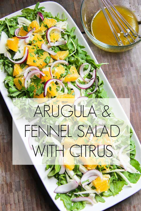 arugula fennel salad with citrus TITLE