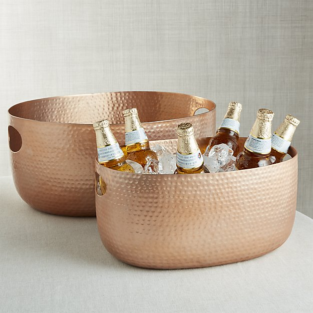 bash-copper-beverage-tub crate and barrel drink shop