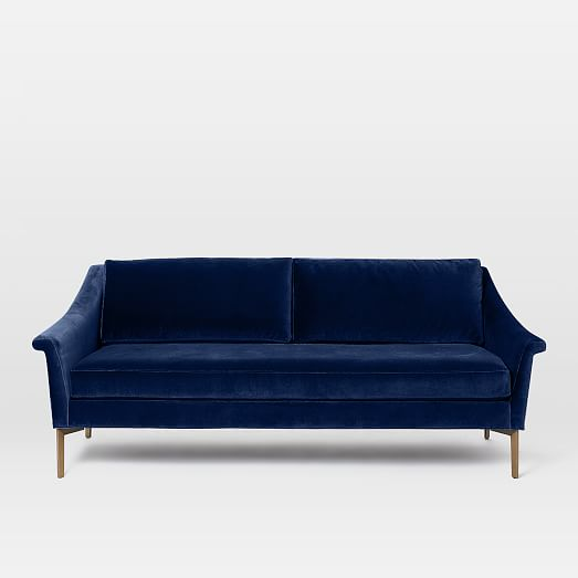 blue velvet couch Sumptuous Living Home Decor