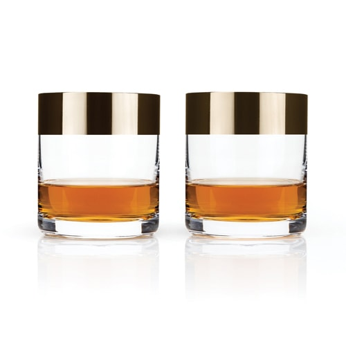 bronze-rimmed-cocktail-tumbler- sumptuous living drink shop