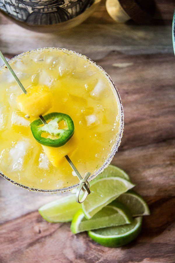 mango margarita with jalapeno