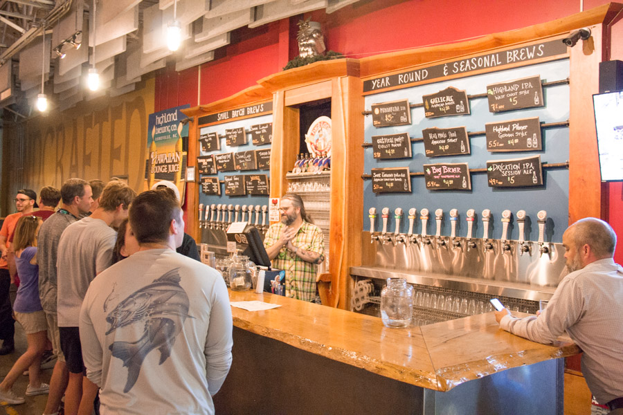 highland best asheville brewery tour