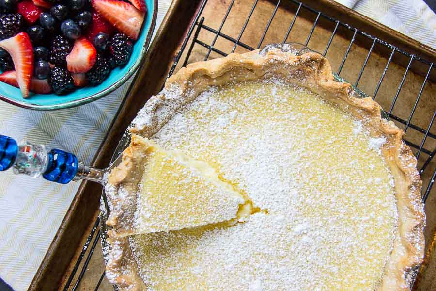 Homemade Buttermilk Pie-12
