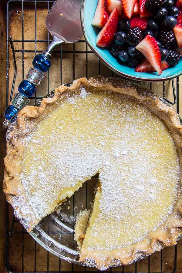 Homemade Buttermilk Pie-25