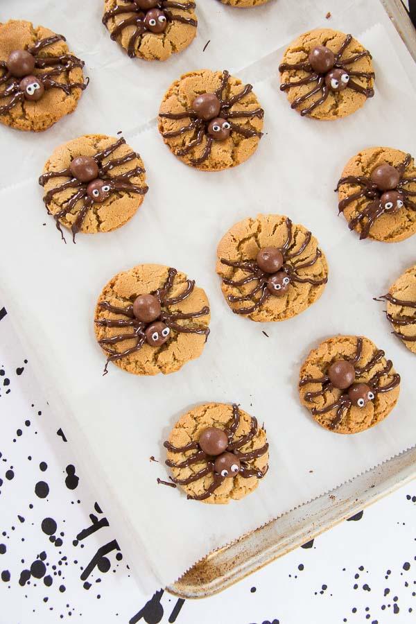 Halloween Spider Cookies-15