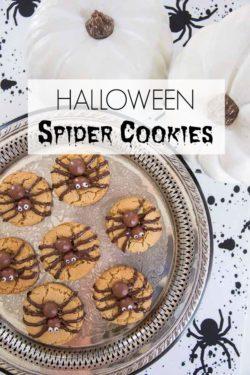 Halloween Spider Cookies Vertical with Title