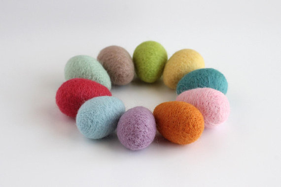Etsy felt eggs easter decor sumptuous living