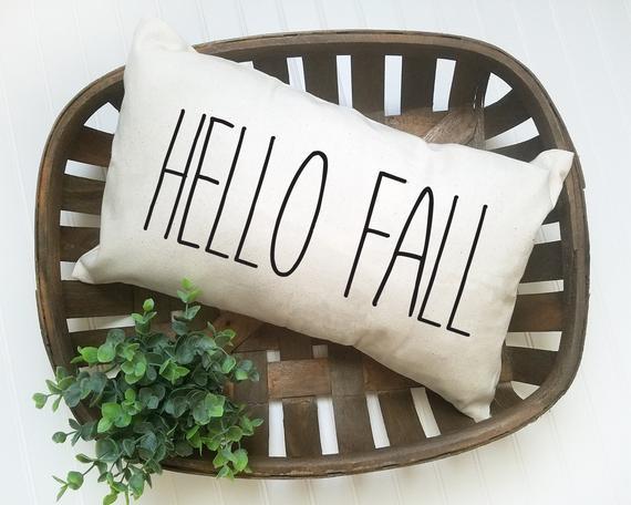 Etsy Hello Fall Pillow Sumptuous Living Seasonal