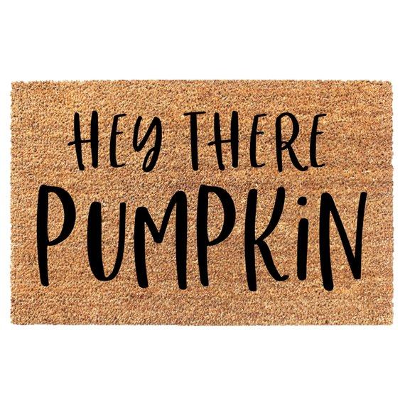 Etsy Hey The Pumpkin Doormat Sumptuous Living Seasonal