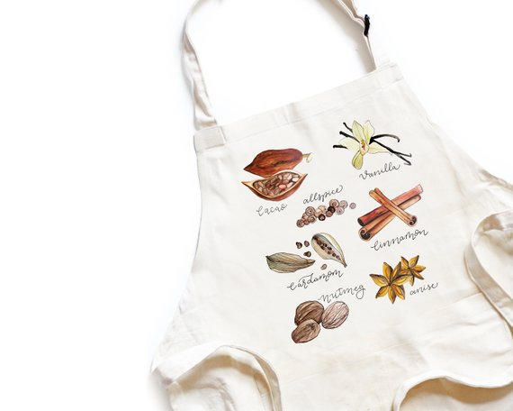 Etsy Spices Apron Sumptuous Living Seasonal