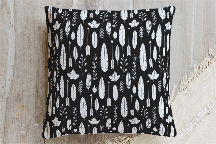Minted Feather Pillow Sumptuous Living Seasonal