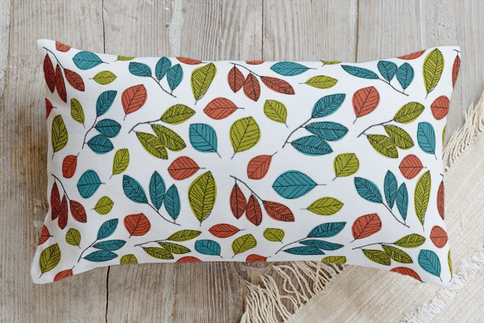 Minted Leaf Pillow Sumptuous Living Seasonal